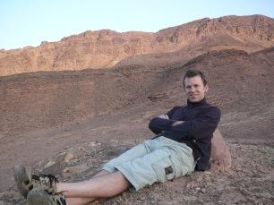 At dawn in Jordan