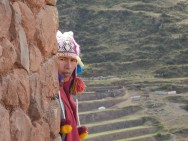 A local at Pisaq, Sacred Valley, Peru